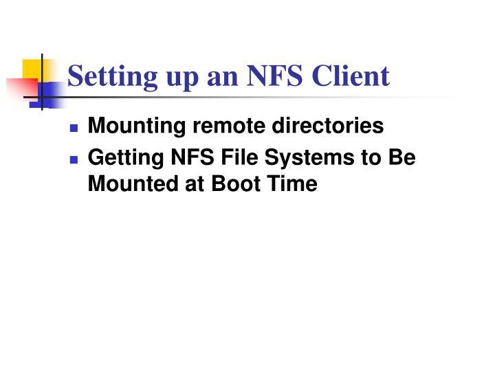 Setting up an NFS Client