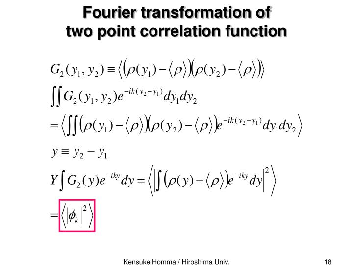 Fourier transformation of