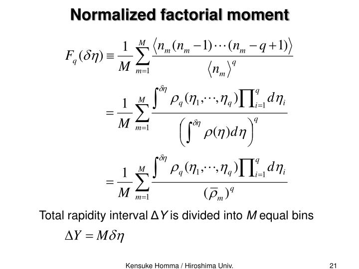 Total rapidity interval