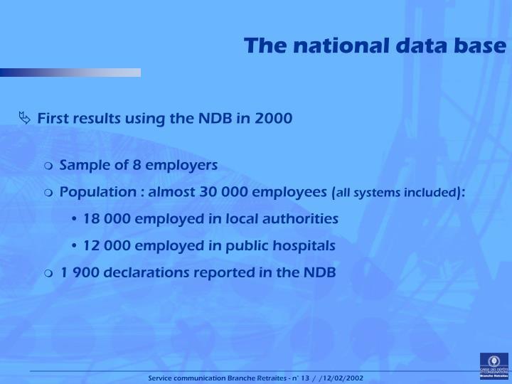 The national data base