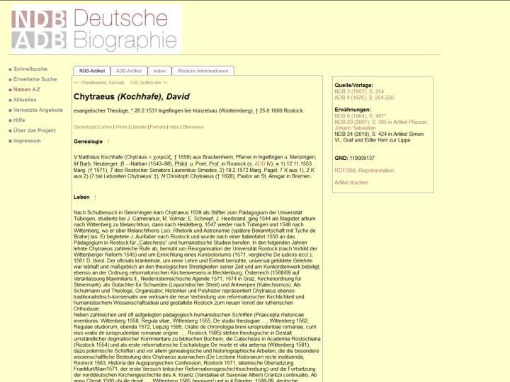Karl Friedrich Schinkel in der Deutschen Biographie