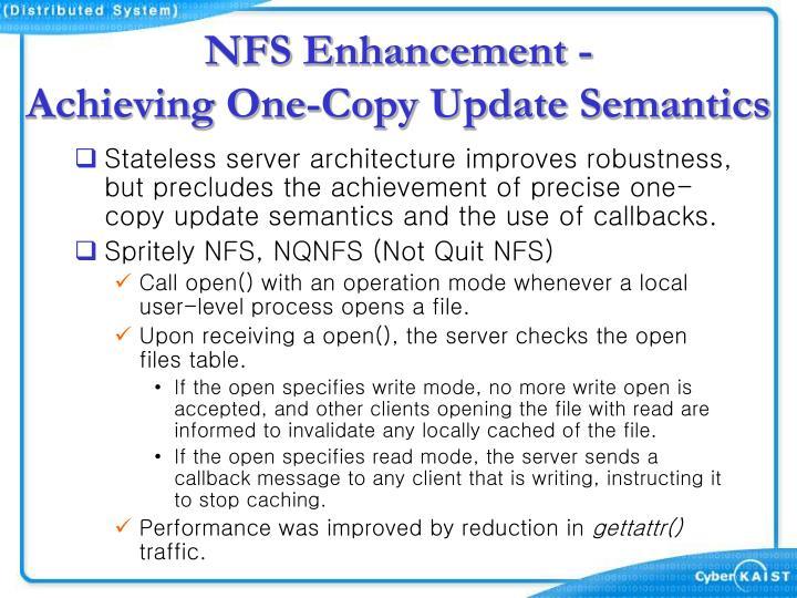 NFS Enhancement -