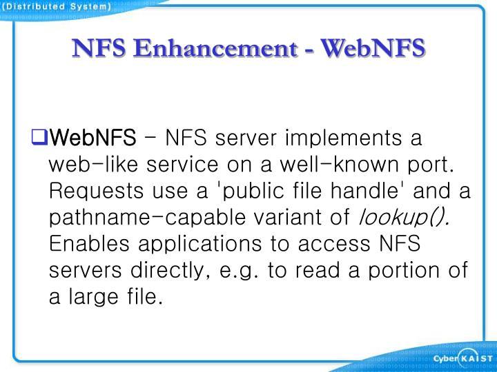 NFS Enhancement - WebNFS