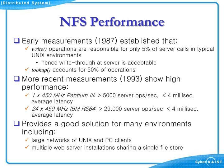 NFS Performance