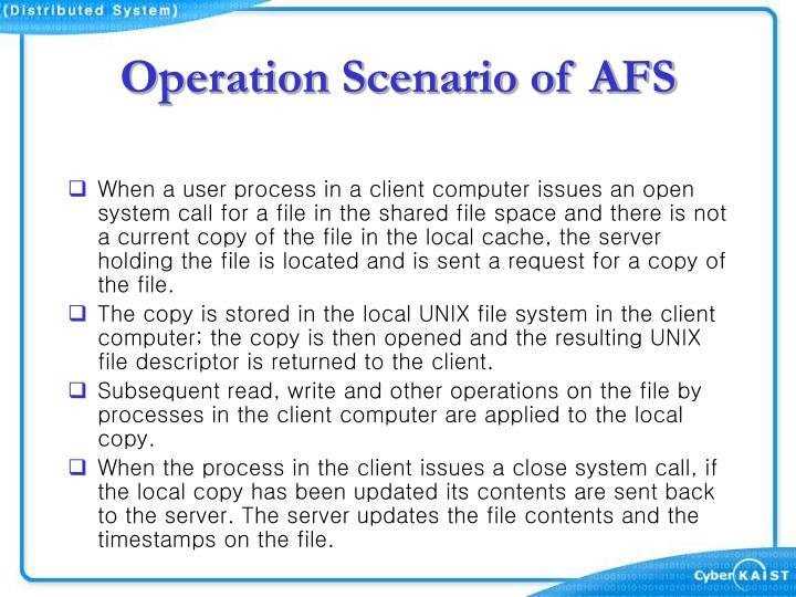 Operation Scenario of AFS