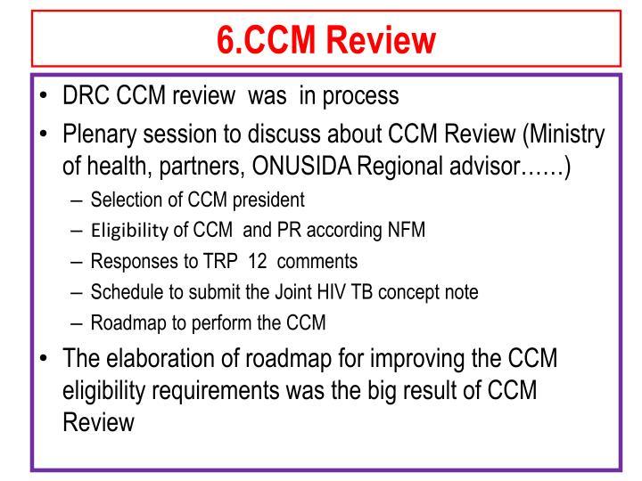 6.CCM Review