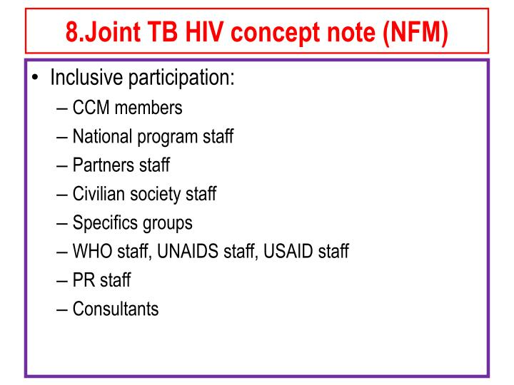 8.Joint TB HIV concept note (NFM)