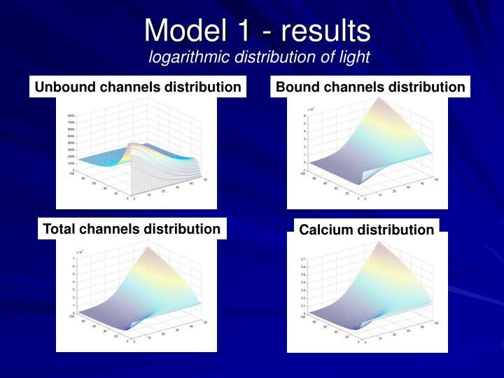 Model 1 - results