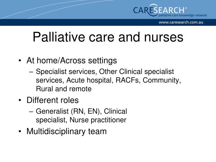 Palliative care and nurses