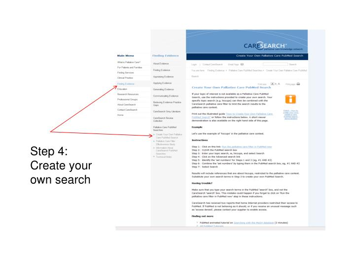 Step 4: Create your own search