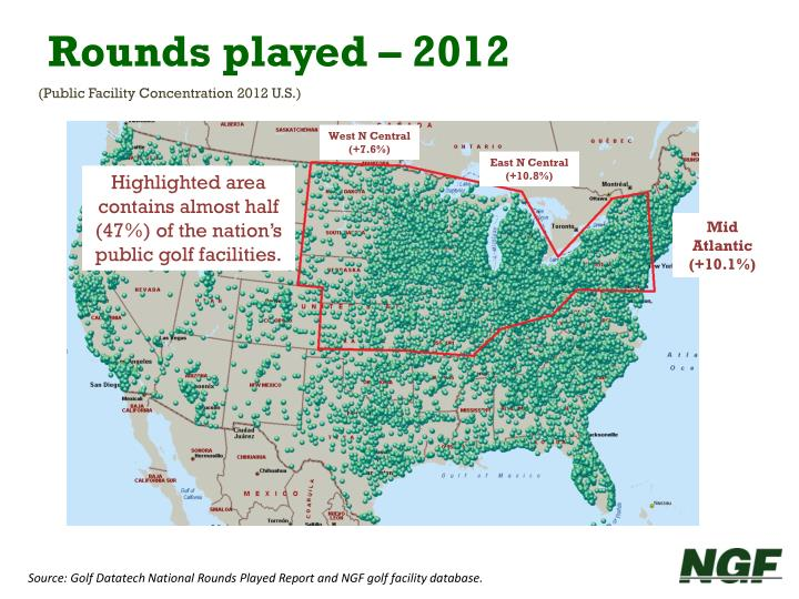 Rounds played – 2012