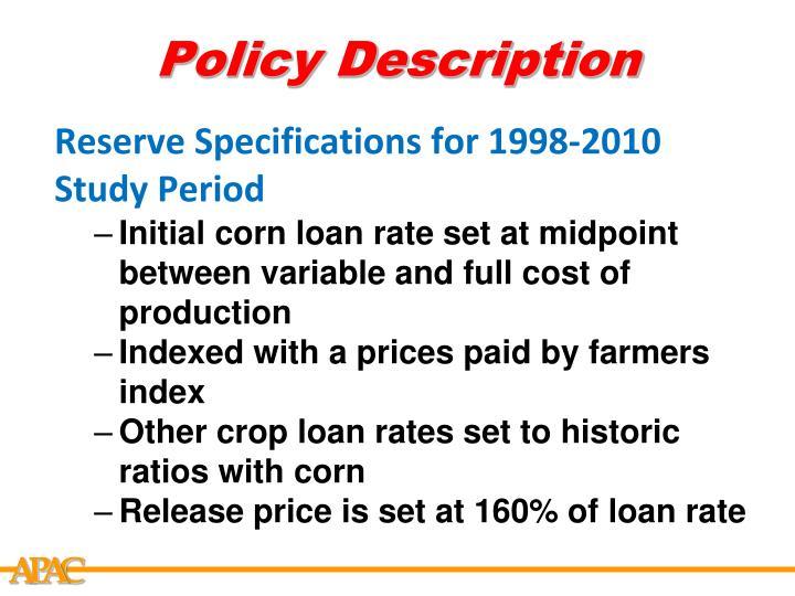 Policy description1