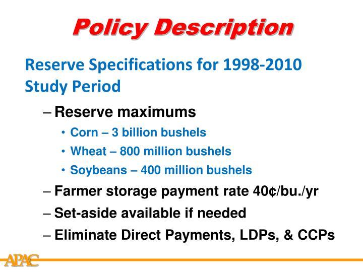 Policy Description