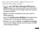 overview of the deft digital futures in teacher education project