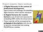 project outputs open textbook