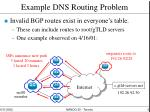 example dns routing problem