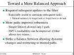 toward a more balanced approach