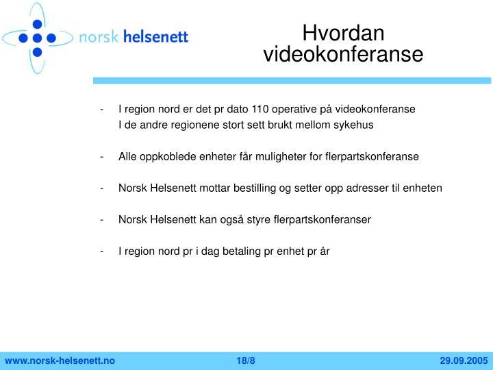Hvordan videokonferanse