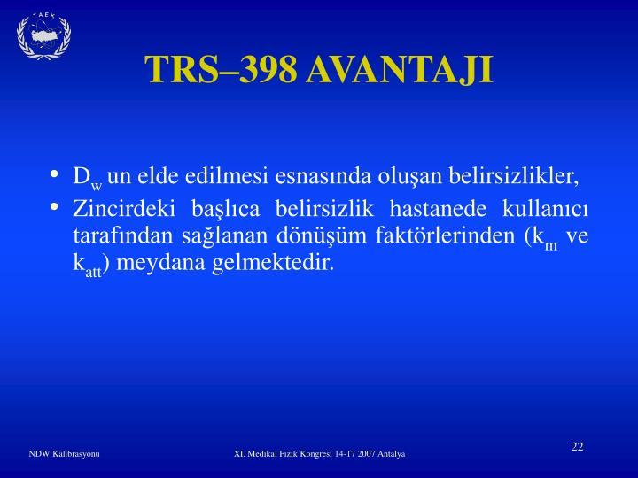 TRS–398 AVANTAJI