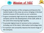 mission of nic