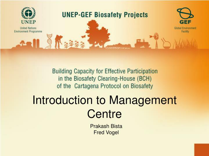Introduction to management centre