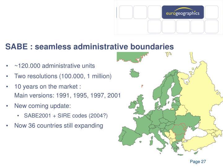 SABE : seamless administrative boundaries