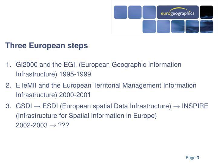 Three european steps