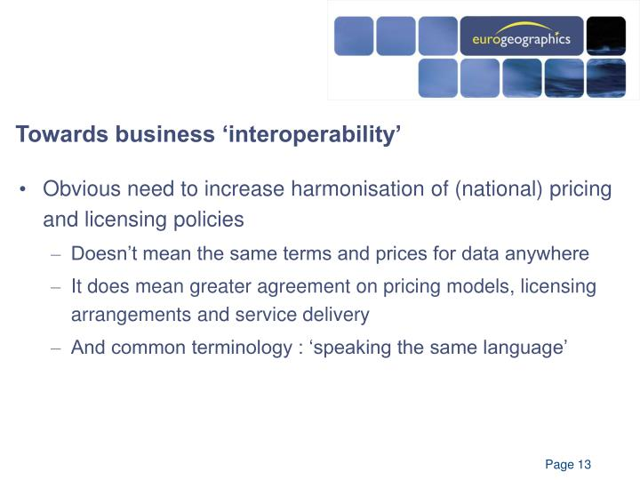 Towards business 'interoperability'