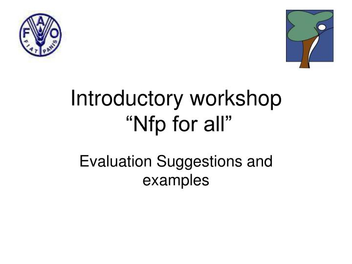 introductory workshop nfp for all