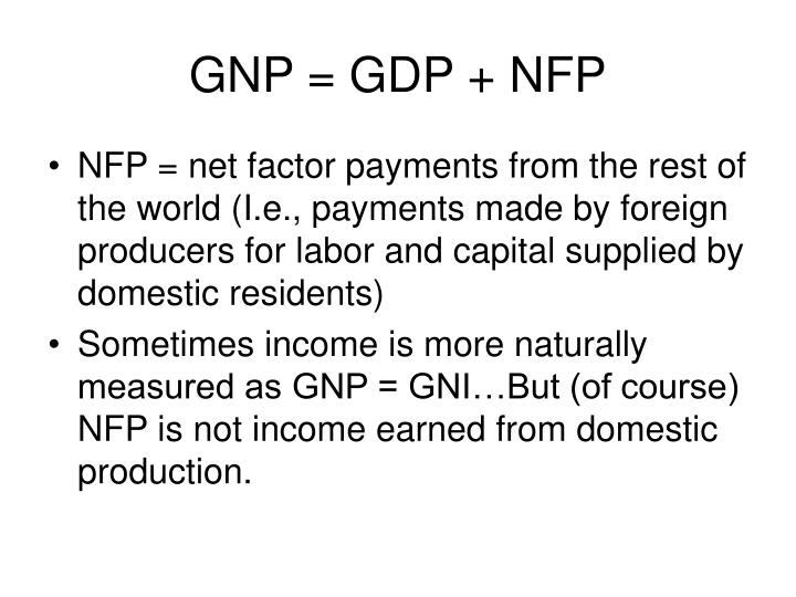 GNP = GDP + NFP