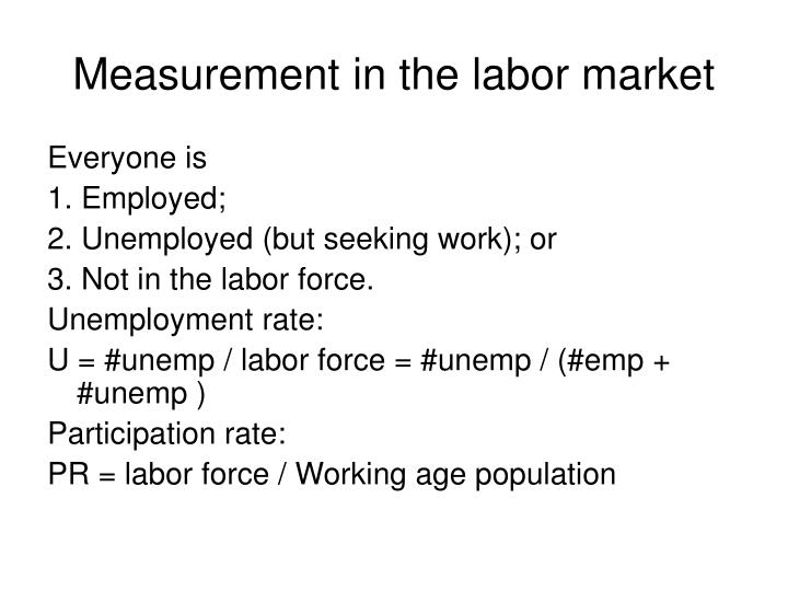 Measurement in the labor market