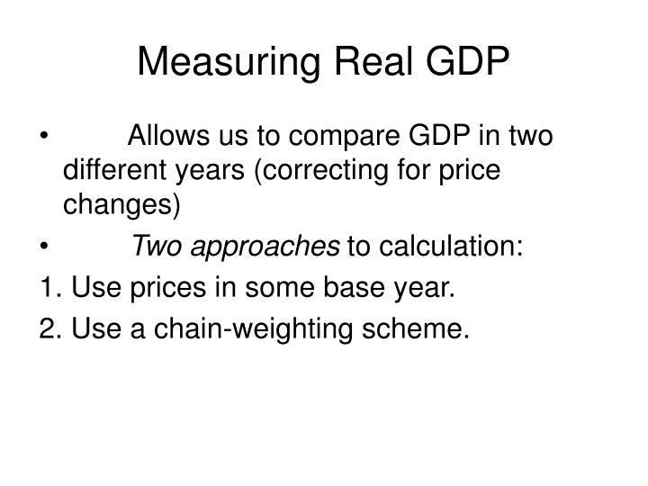 Measuring Real GDP