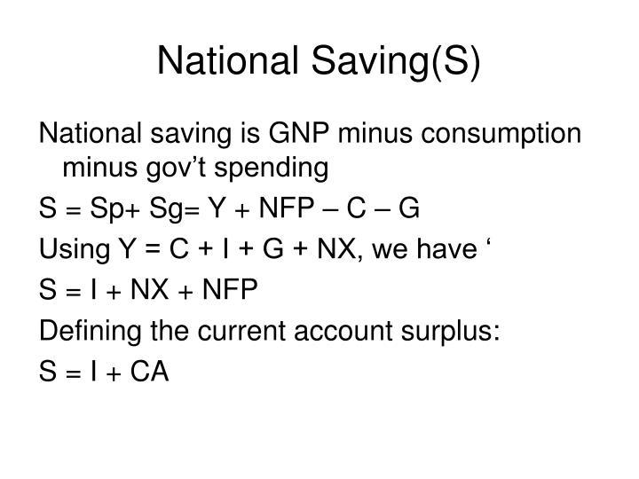 National Saving(S)