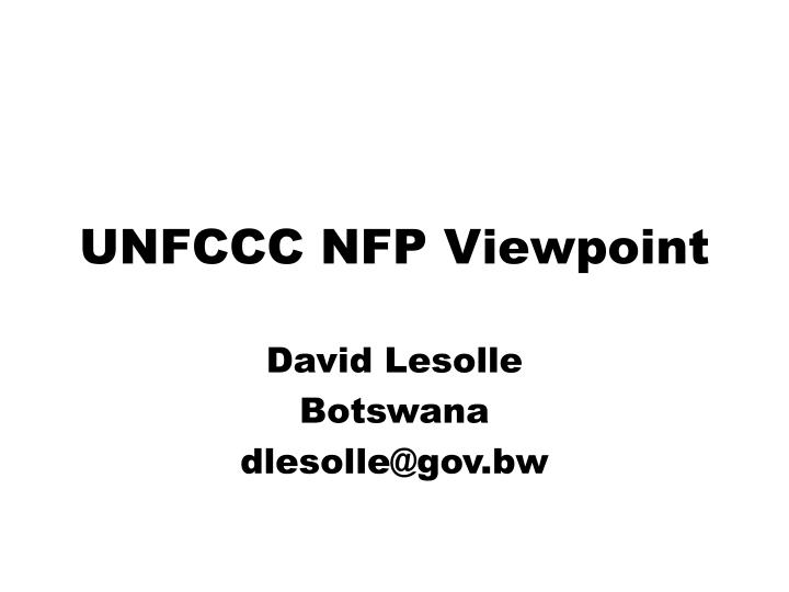 unfccc nfp viewpoint n.