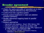 broader agreement