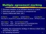 multiple agreement marking
