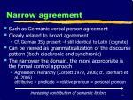 narrow agreement
