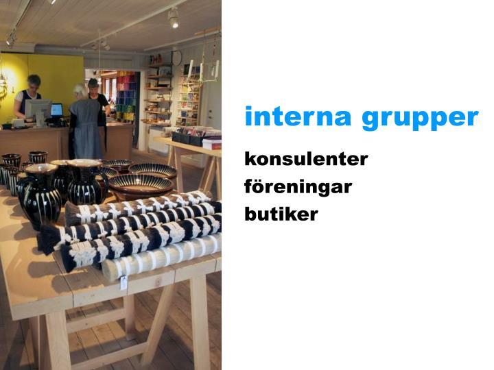 interna grupper
