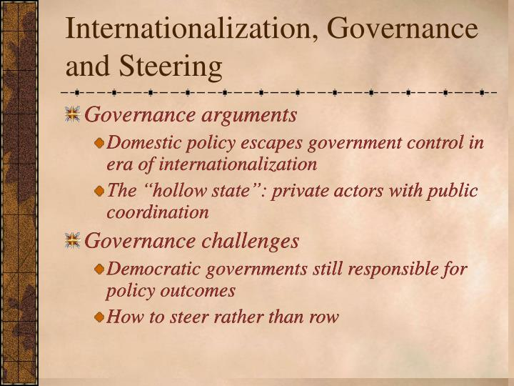 Internationalization governance and steering