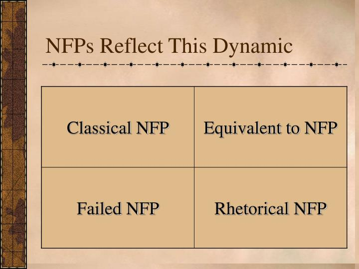NFPs Reflect This Dynamic