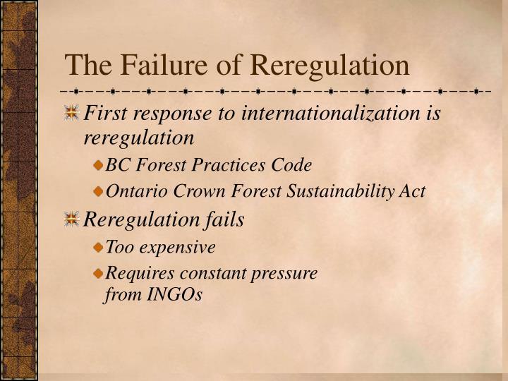 The Failure of Reregulation