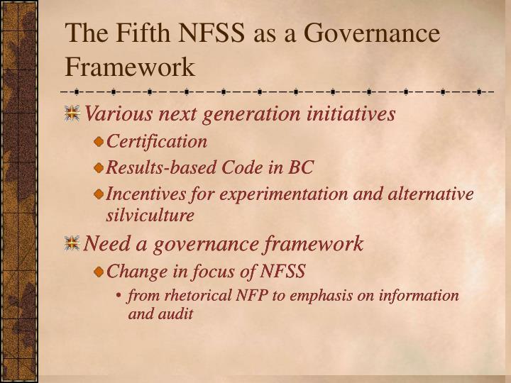 The Fifth NFSS as a Governance Framework