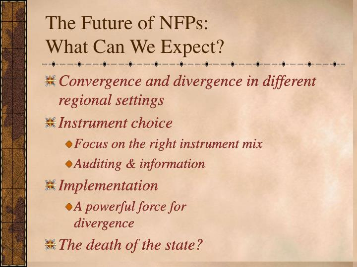 The Future of NFPs: