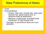 mate preferences of males1