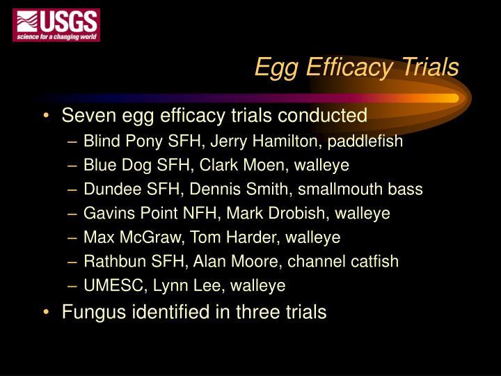 Egg Efficacy Trials