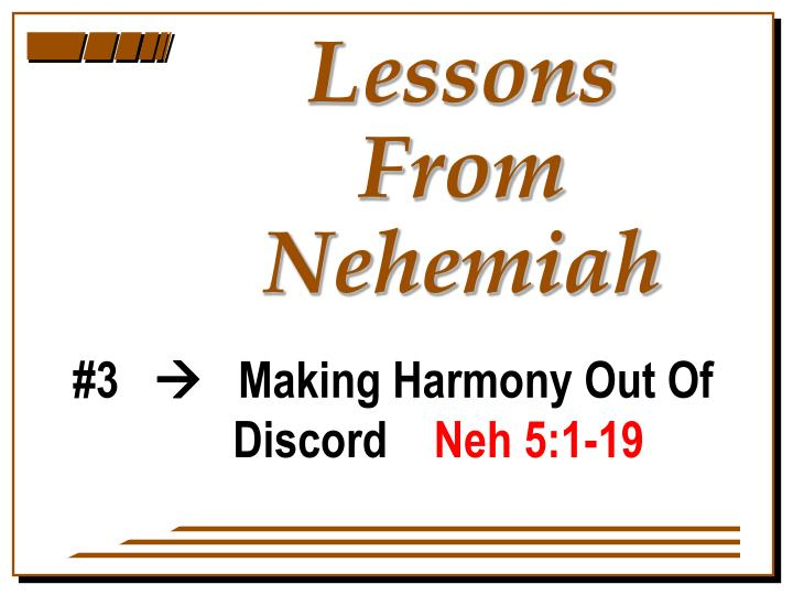lessons from nehemiah n.