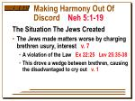 making harmony out of discord neh 5 1 191