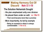 making harmony out of discord neh 5 1 195