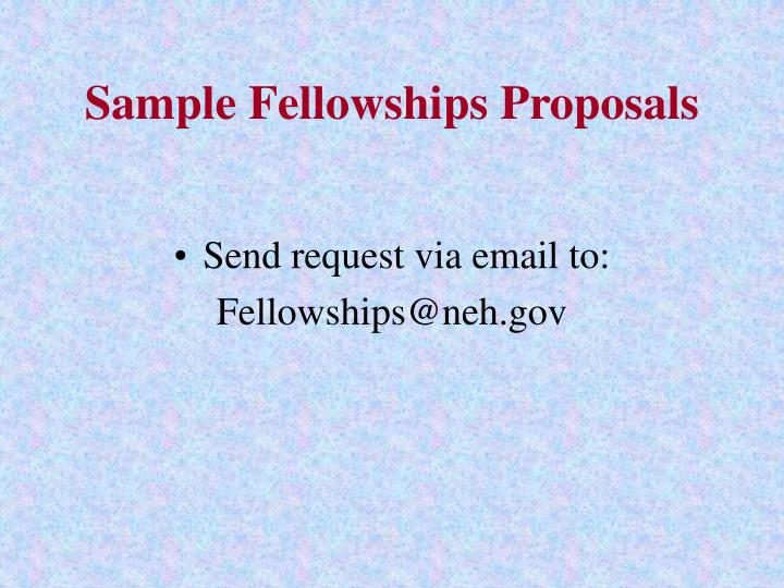 Sample Fellowships Proposals