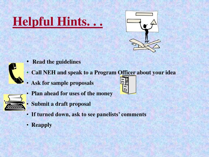 Helpful Hints. . .